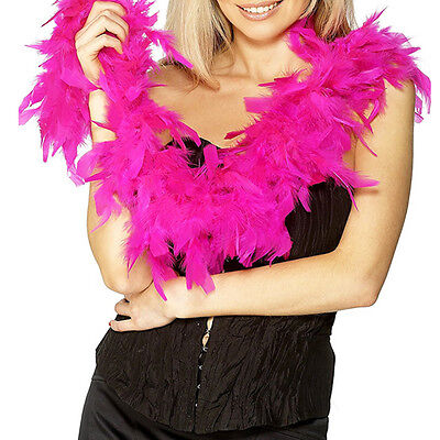 2m Fluffy Feather Boa Flower Craft For Party Wedding Dress Up Costume Rose Red