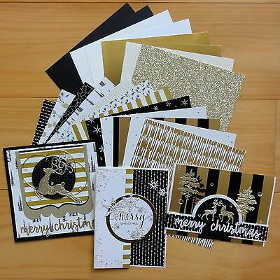 "STAMPIN' UP! WINTER WONDERLAND BLACK GOLD 6""x6"" PAPER & CARD PACK 20 SHTS - NEW"