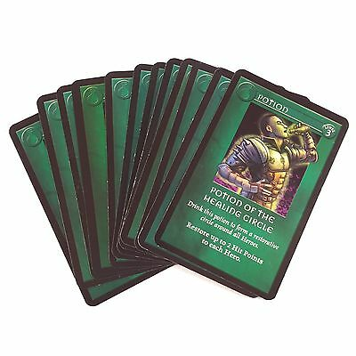 x12 Dungeons & Dragons D&D Spare / Replacement POTION CARDS / DECK - 2003 Hasbro
