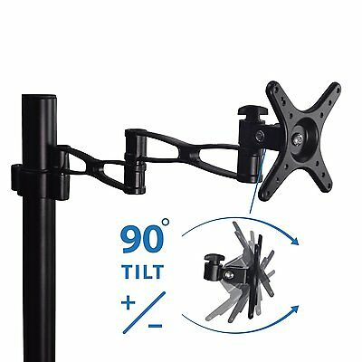 "For 10-32"" LED/ LCD Monitor Stand Desk Mount Bracket Tilt Swivel Rotate Arm"