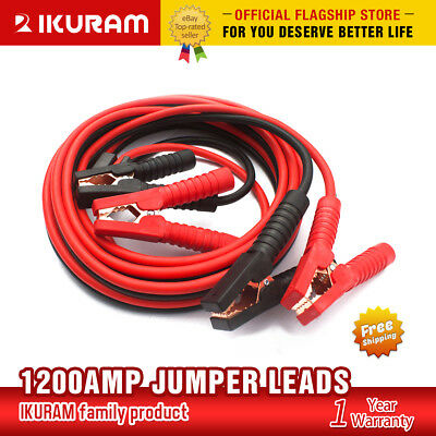 Autofonder 1200AMP Jumper Leads 6M Protected Car Truck Booster Cables Heavy Duty