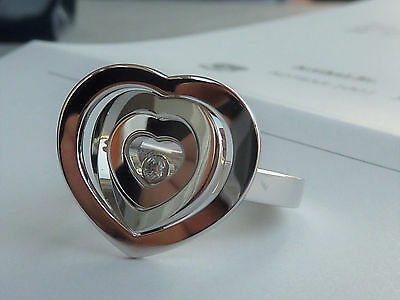 Chopard Happy Diamond Spirit * Heart Ring Ref. 827855 FULL SET Weißgold 18K Gold