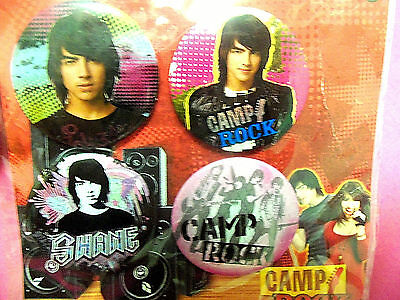 JONAS BROTHERS Camp Rock SHANE Collectible 4 Pin Set  DISNEY STORE EXCLUSIVE