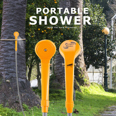 Outdoor Camping Hiking Portable Car Charger Powered Handheld Shower Yellow