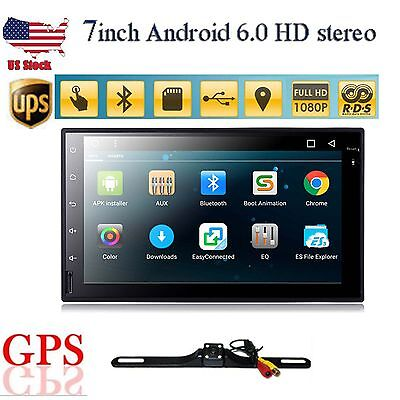 """Android 6.0 7"""" 2Din InDash Car DVD Radio Stereo Player WiFi 3G GPS+OBD2+CAMERA"""
