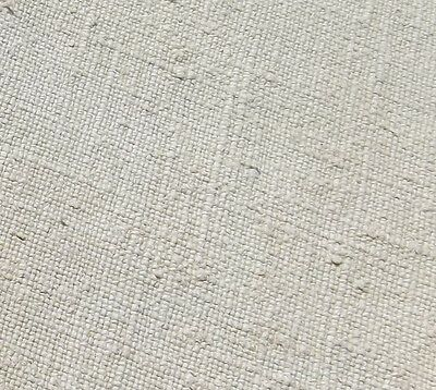 Antique French Fabric Antique hemp linen Oatmeal Chanvre Gross Grain  weave