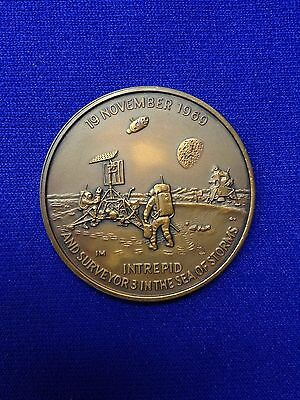 Apollo 12 Commemorative Bronze Medallion - Au-Unc Condition