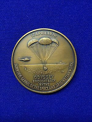 Apollo 13 Commemorative Bronze Medallion - Au-Unc Condition