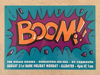 Boom Gt Yarmouth 31.8.92 Rave Flyers Flyer