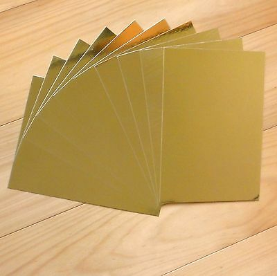 GOLD FOIL MIRROR CARD A5 x 10 SHEETS CHRISTMAS BIRTHDAY WEDDING - NEW