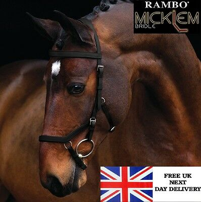 Horseware Rambo Micklem Leather Competition Bridle FEI Approved Comfort Bridle