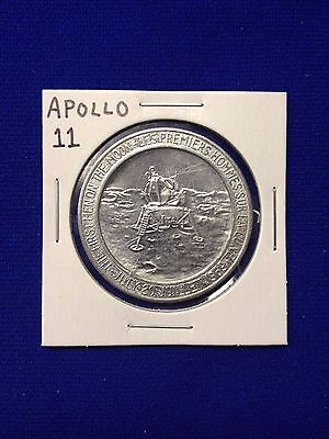 Apollo 11 Commemorative Aluminum Coin - First Men On The Moon - Lot D-6