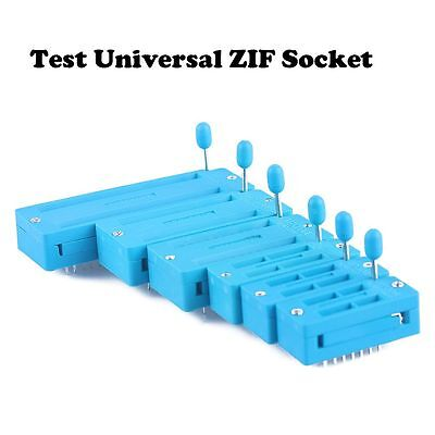 14/16/18/24/28/40 Pin Universal ZIF Integrated Socket IC Test Home Improvement