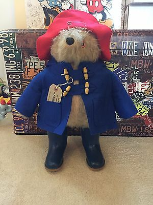 RARE 1972 paddington Bear Gabrielle Designs full outfit and dunlop boots Tag