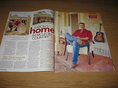 AARON JEFFERY - 2 page magazine clipping  - Australian 2002 - McLEOD'S DAUGHTERS