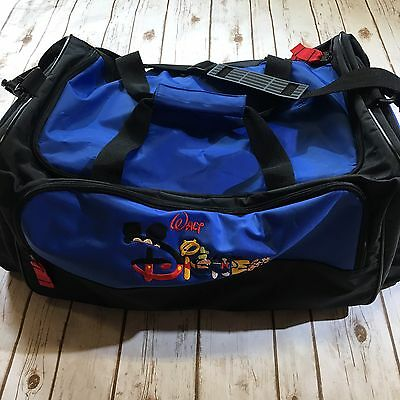 Walt Disney World Embroidered Large Duffel Bag Disney Luggage Blue Black