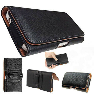 Universal PU Leather Flip Belt Clip Holster Case Cover For Various Mobile Phones