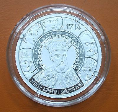 10 Lei 2014 300 yrs since the death of Brancoveanu Ag Proof 250 minted only