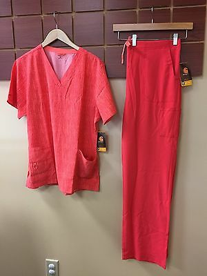 NEW Carhartt Hibiscus Print Scrubs Set With XL Top & XL Tall Pants NWT