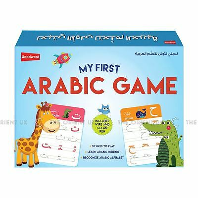 My First Arabic Game for Kids Card Game Alphabet & Writing + Wipe Pen
