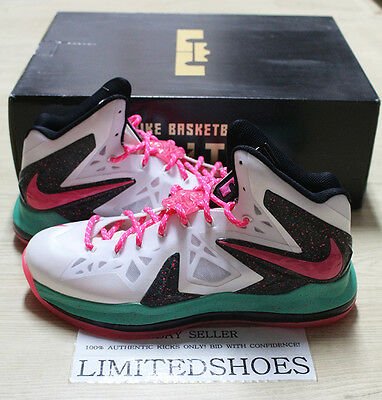 purchase cheap dd694 dc63a Nike Lebron X 10 Elite Id White Pink Emerald Diamond Collection 616120-994  Us 11
