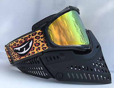 NEW JT Proshield 2.0 Black Thermal Lens Paintball Mask Goggle Proflex Strap