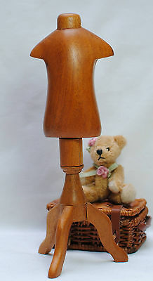 "Boneka Wooden Tailor Stand for doll dresses size 18cm-22cm 7/""-8.5/"""