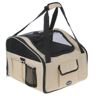 Petcomer Portable Pet Travel Carrier Dog Cat Puppy Car Seat Carrier Travel L5Z2
