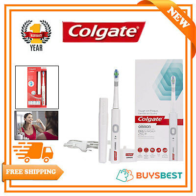 Colgate Omron ProClinical 250+Rechargeable Electric Toothbrush Travelcase White
