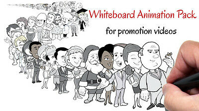 i will create white board animation video for you
