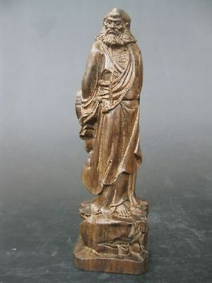 Chinese hand carved Buddha agalloch eaglewood wood Bodhidharma