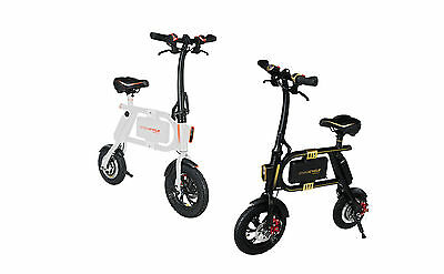 SwagCycle Aluminum e-Bike Fast Folding Electric Bicycle Motorbike Li-ion Battery