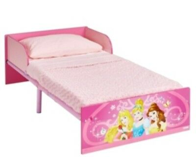 DISNEY PRINCESS - JUNIOR TODDLER STARTER BED - PINK - Girl's Bed With Picture