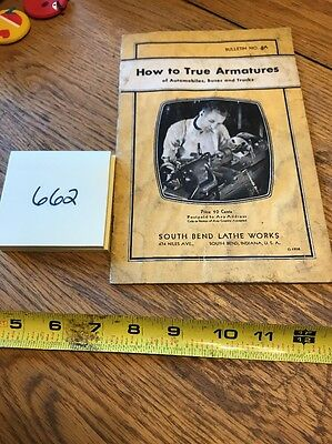 Southbend Lathe How To True Armatures Bulletin #2A Original 1936