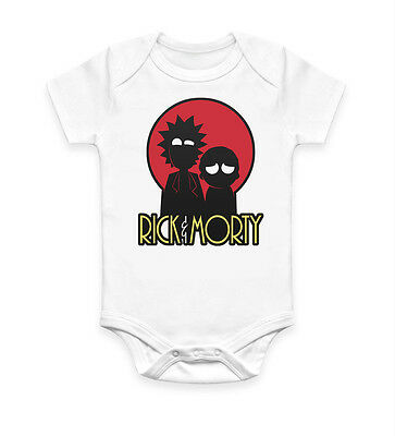 Tiny Rick and Morty Funny Baby Grow Boys Girls Bodysuit Vest Unisex Gift NEW