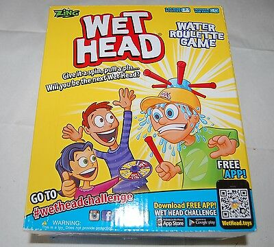 Wet Head Board Game Water Roulette Wet n Wild Family Fun Concept for all Ages