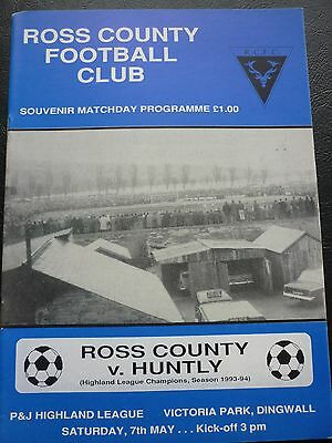 Ross County V Huntly 7/5/1994 Last Home Game In The Highland League