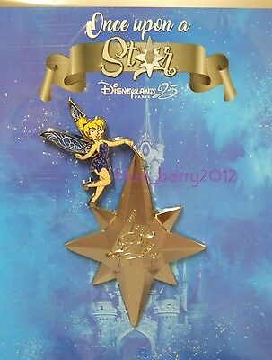 Pin Event ONCE UPON A STAR Jumbo Tinker Bell Disney land Paris 25 th anniversary