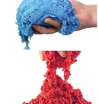 Red and Blue Kinetic Sand!! Lot of 2!!!! US SELLER!!! FREE SHIPPING!!