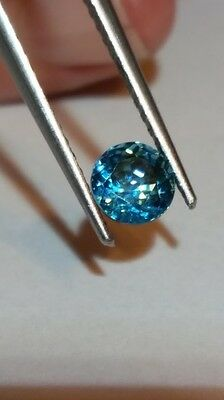 1.65ct GORGEOUS Round Finest Quality 5A Top Fire Blue Zircon