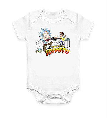Funny Rick&Morty Schwifty Baby Grow Body suit Baby Suit Ideal Gift Unisex 2622