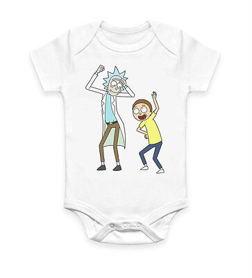 Funny Rick and Morty Dance Baby Grow Body suit Baby Suit Ideal Gift Unisex 2624
