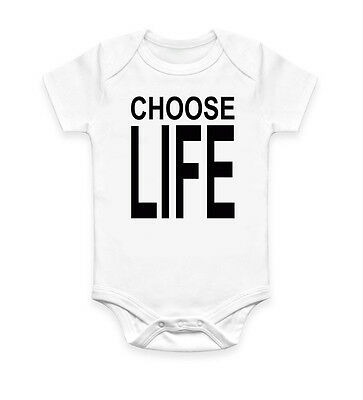Funny Choose Life George Michael Baby Grow Body suit Baby Suit Gift Unisex 2662