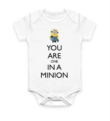 Funny You Are One In A Minion Baby Grow Body Suit Baby Suit Gift Unisex 2709