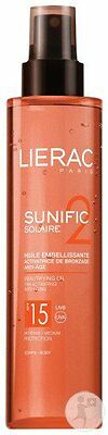 Lierac Sunific Solaire 2 Huile embellissante SPF15. 125ml NEUF