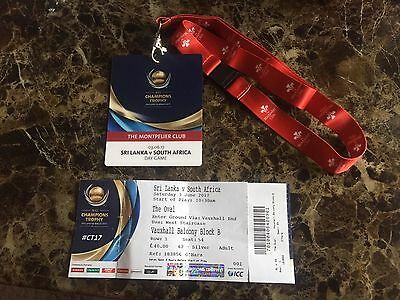 ICC Champions trophy 2017-Sri Lanka v South Africa X1 Ticket Lanyard at Oval
