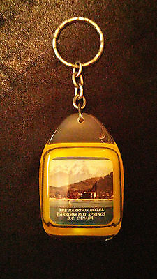 The Harrison Hotel, Harrison Hot Springs, BC, Canada Key Chain Vintage Souvenir