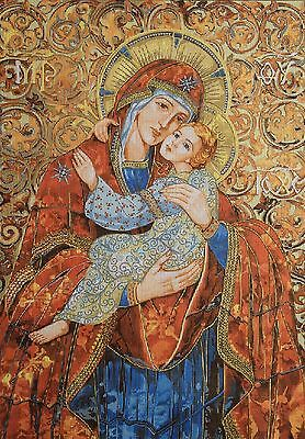 """Gobelin Tapestry Needlepoint Kit """"Maria with child""""  printed canvas 467"""