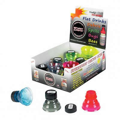 Snap Capp Can Cap Full sealed Case Of 24 Caps Assorted Colors