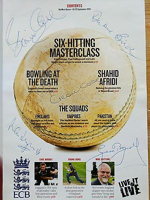 Autographed 2010 International Cricket Programme